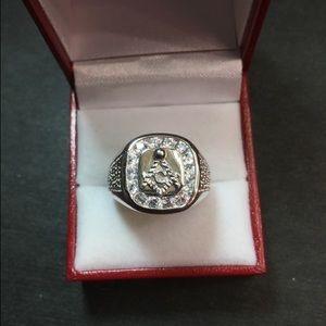 New Crystal Masonic silver Men's masonic ring …